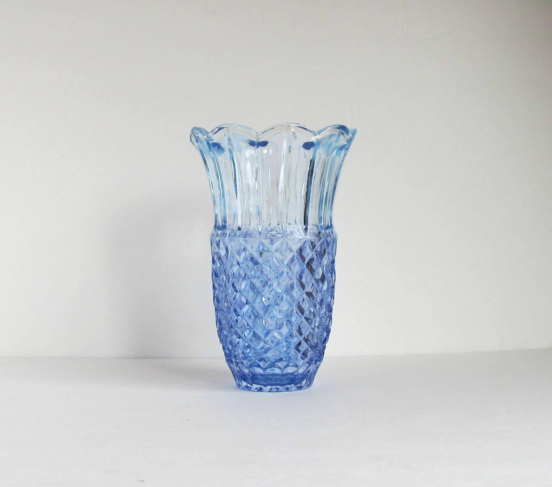 Blue crystal vase blue flower vase blue painted vase large zoom reviewsmspy