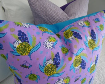 TEEN Purple floral pillow cover. Tween/Teen purple pillow cover. Product ID# P0056