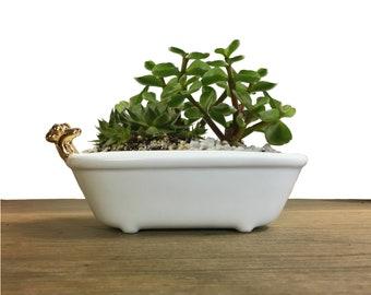 BATHTUB planter, Small Cute Planter, jewelry organizer, Ceramic Planter, Succulent Planter, modern terrarium, desk planter gift, air plant
