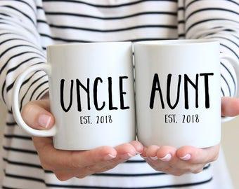 Uncle Gift, Uncle Mug, Brother Gift, Pregnancy Announcement, New Uncle Gift, Aunt Gift, New Aunt Gift, Aunt Mug