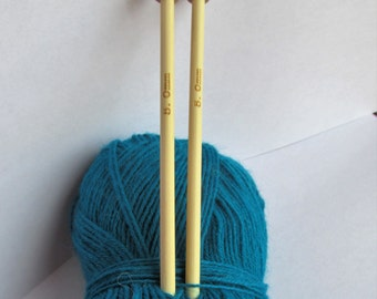 5mm Bamboo Knitting Needles - short