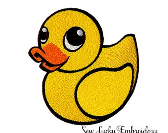 Yellow Rubber Duckie Embroidery Patch, Sew or Iron on