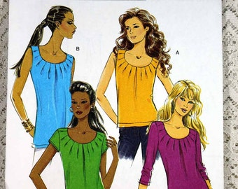 Butterick 5354, Misses' Top Sewing Pattern, Easy Top Sewing Pattern, Pullover Top Pattern, Misses' Size 6, 8, 10, 12, Uncut