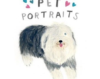 Pet Portrait - custom illustration of your favourite pet - pet portrait commission