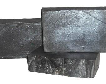 THE ROCK | Dead Sea Mud Spa Bar | Sandalwood Bergamot Scent | Charcoal | Hemp | Organic Shea | Colloidal Oats | Detox and Condition