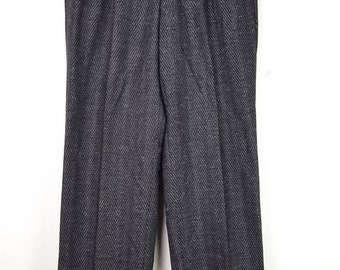 Vintage PLAYBOY Wool Geometric Design Trouser Casual Baggy Pant