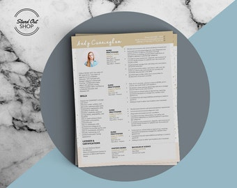 Andy Cunningham  Modern Resume and Matching Cover Letter Template for Microsoft Word - Andy Cunningham