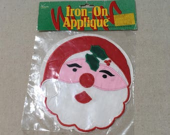 Vintage Santa Iron-on Applique Patch