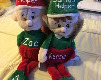 Santa's Helper Elf/Personalized Elf/ Stuffed Elf