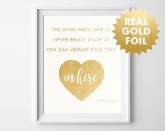 Harry Potter Gold Foil Print / Real Gold Foil Print / Sirius Black Quote / Harry Potter Sign / Inspirational Sign / Harry Potter Fan Gift