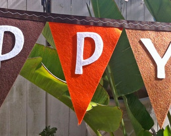 Happy Thanksgiving Felt Banner
