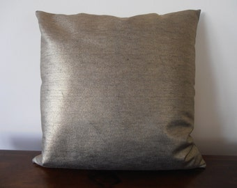 Metallic  Gold Pillow - Gold Denim Pillow Cover - Gold pillow cover - metallic gold cushion - gold decor pillow - metallic pillow cover