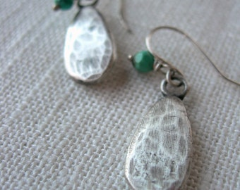 Earthy Dangle Earrings - Canyons Tears  by iNk handmade from Recycled Sterling Silver