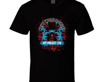 New World Order Ape Project C 16 Highest Quality T Shirt