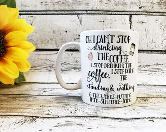 Coffee Coffee Coffee Funny Mug - Gilmore Girls Mug - Gift for Coworker - Coffee Lover - Best Friend Gift - Coffee Lover Gift - Lorelai