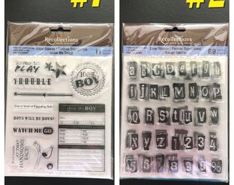Recollections Clear Cling Rubber Stamp Set- YOU CHOOSE-