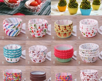 50 pc Different Designs Colorful Kitchen Cupcake Liner Baking Cup Cupcake Paper Muffin Case Cake Tools