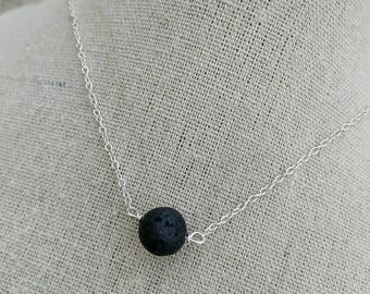 Diffuser Necklace - Lava Stone Diffuser- Essential Oil Diffuser Necklace - Lava Bead necklace - Aromatherapy - mothers day gift