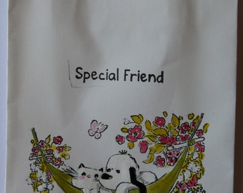Hand painted gift bag