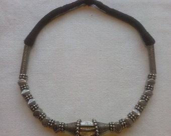 Old Thai Oxidised Silver Necklace