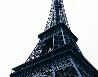 Paris Print Set of 2 - Fine art photography - Eiffel Tower, architectural detail - black and white - Corporate art, Wall art - iconic gift