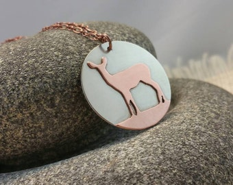 Deer Jewelry, Deer Necklace, Southern Jewelry, Girls Who Hunt, Woodland Animals, Copper Jewelry, Deer Pendant, Gift For Her, Custom Jewelry