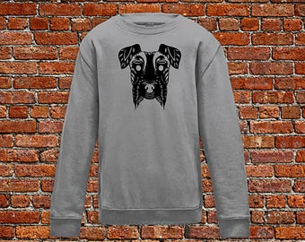 Dog sweater, dog lover, animal sweater, zen style dog, henna print sweater, dogprint, dog head sweater, hipster gift, gift for tattoo lover