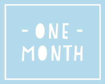 Baby monthly photos / Baby monthly photo prop / Baby photo props / Monthly photos / Pregnancy month prints / Monthly Baby Printables / BLUE