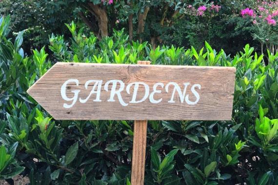 Genial Garden Sign Garden Stakes Garden Decor Wooden Yard Signs