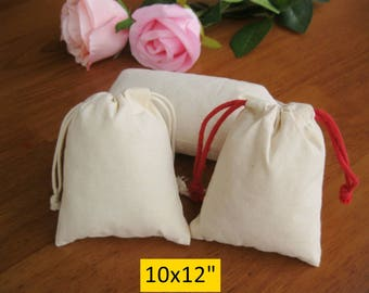 50 10x12 Large Cloth Bags Grocery Bags Custom Jewelry Pouches Party Favor Bags
