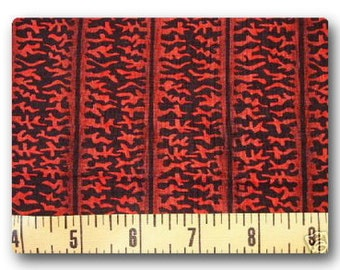 Red Squiggles - Fabric By The Yard
