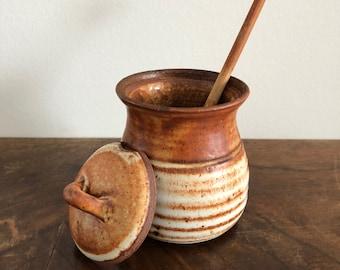 Vintage small honey pot