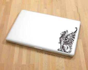 Griffin Vinyl Decal | laptop decal macbook decal car decal fantasy mythical creatures griffin sticker for laptop gryphon griffin decal