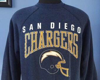 80s Vintage San Diego Chargers Sweatshirt nfl football - XL X-LARGE
