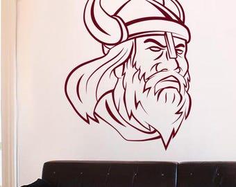 """Viking head"" decal"