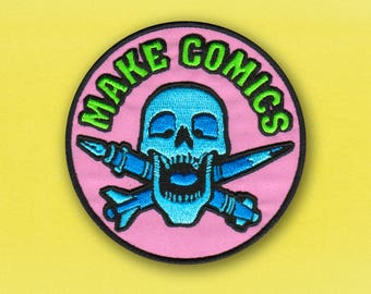 MAKE COMICS - Comic Book Artist Embroidered Patch