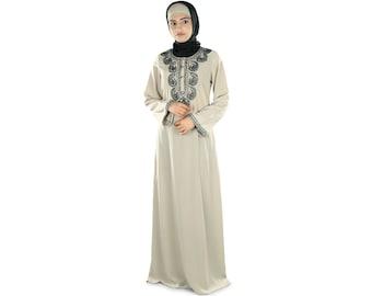 MyBatua Dubai Fancy Abaya Maxi Dress, Trendy Burka, Ethnic Muslim Jilbab, All Occasion Wear, Islamic Clothing, Pockets on Both sides AY-273