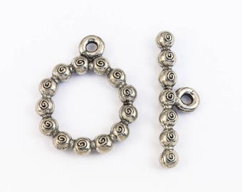 21mm Pewter Toggle Clasp (12 Pcs) #CLB196