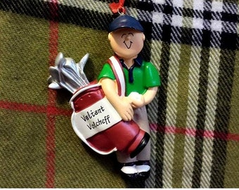 Personalized Male Golfer Gift - Golf Gift for Dad/Father's Day - Golf Hobby/Golf Birthday - Golf Retirement Ornament/Cake Stand/Magnet