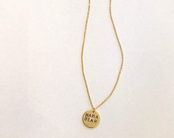 Personalized Dainty Coin Necklace (Gold)