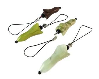 Gemstone Flower Bag Charm Zipper Pull, Swarovski Purse Charm Flower Shaped, Long Stone Flower Charm for Zipper Pulls for Purses or Bags