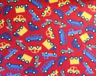Fleece, Fleece Fabric, Cars, Trucks, Boys, Fabric for Boys, sewing, Fabric, Automobiles, Truck Fleece, By The Yard, Fabric By The Yard