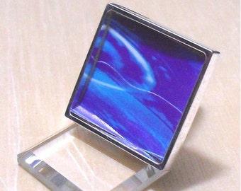 20pcs silver tone square Adjustable Ring Blank