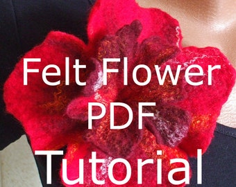PDF tutorial instructions how to make a felt flower corsage