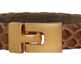 Python Bracelet, Python Cuff, BAJ 496 G Taupe