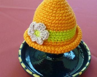 Hat of egg warmer, egg, crochet cotton Hat