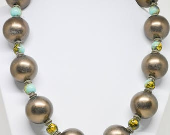 Lovely large round beaded necklace