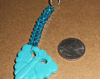 Turquois Colored Butterfly Pull (E 652)