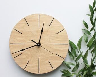 Wooden Wall Clock, Handmade Clock, Clock, Geometric
