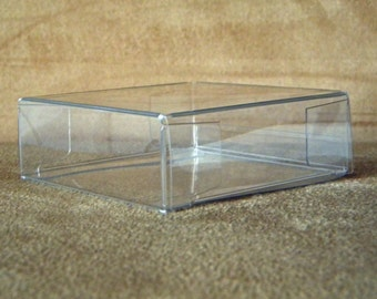Clear Boxes 3 1/4 x 1 1/8 x 3 1/4 Inch , Set of 25